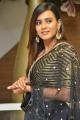 24 Kisses Actress Hebah Patel Pics in Black Embellished Lehenga Dress
