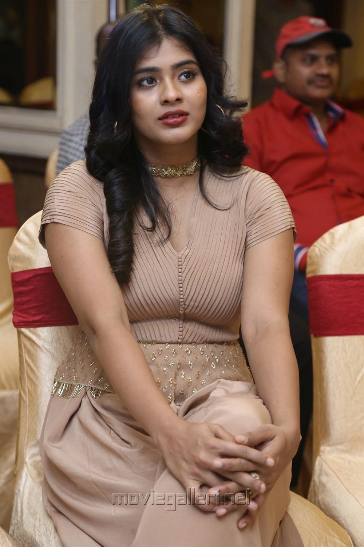 Actress Hebah Patel Hot Pics @ Santosham Awards 2017 Curtain Raiser Press Meet