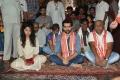 Anupama, Ram, Trinadha Rao @ Hello Guru Prema Kosame Team @ Vijayawada Kanaka Durga Temple