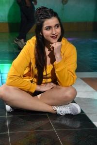Actress Mannara Chopra @ Hi 5 Movie Shooting Coverage Photos