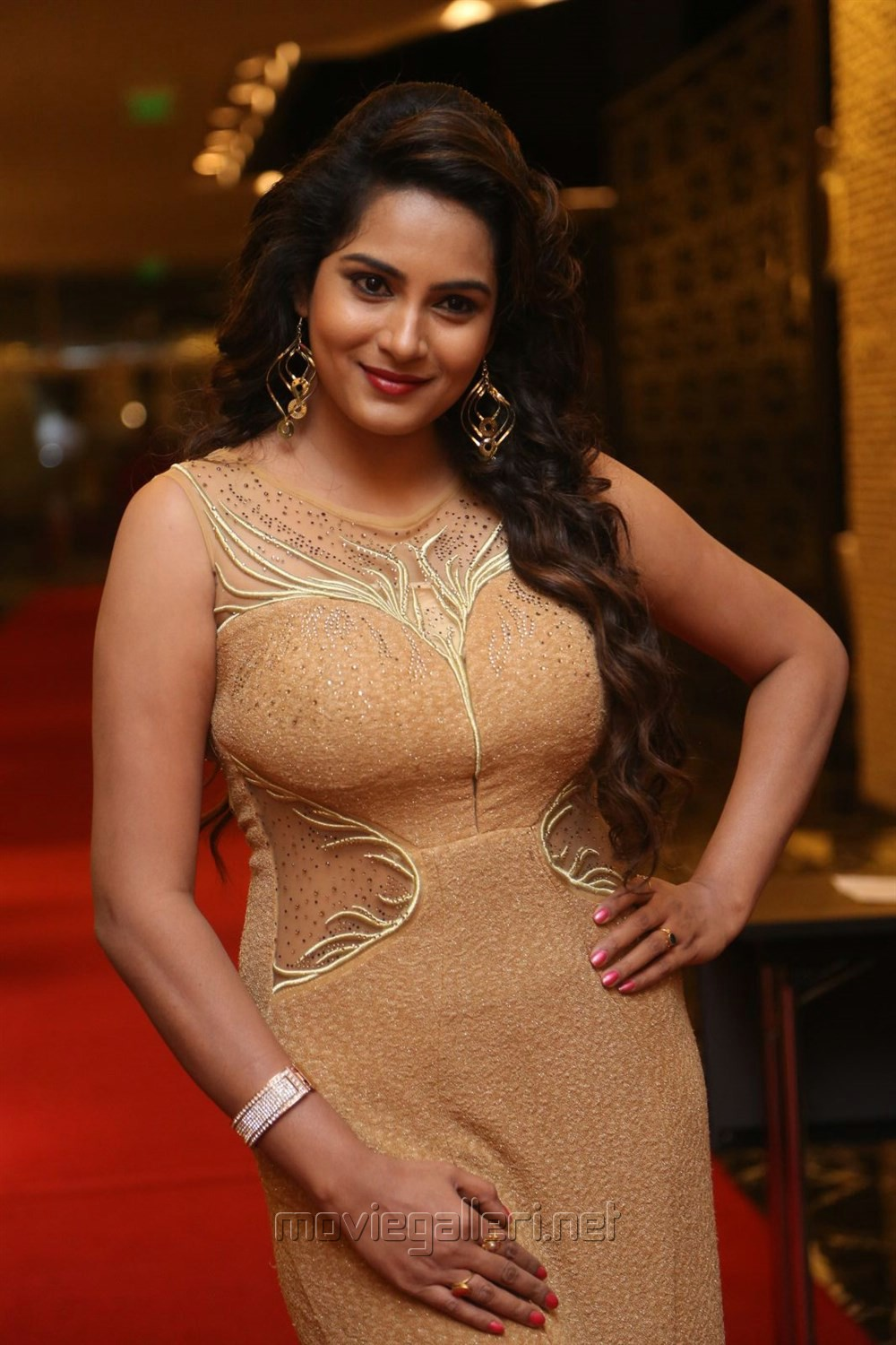 Actress Himaja Hot Stills @ SIIMA Short Film Awards 2017
