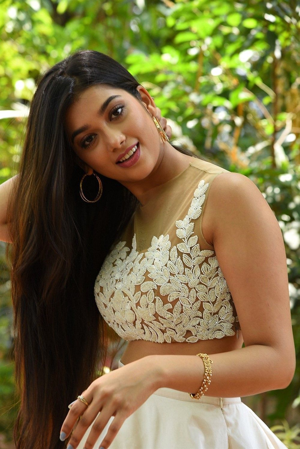 Heroine Digangana Suryavanshi Images at Hippi Movie Interview