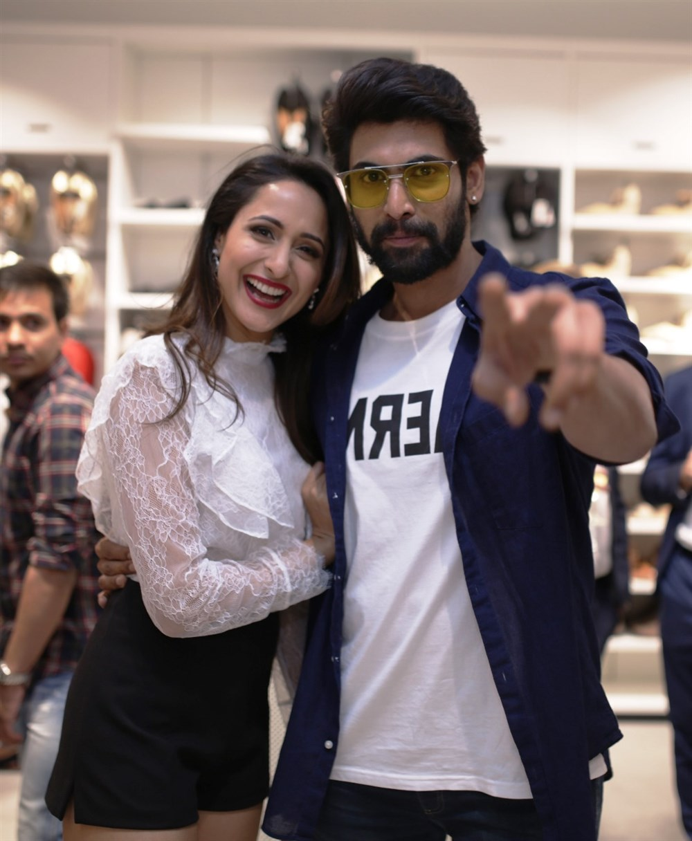Pragya Jaiswal, Rana Daggubati @ H&M Hyderabad Grand Opening at Inorbit Mall