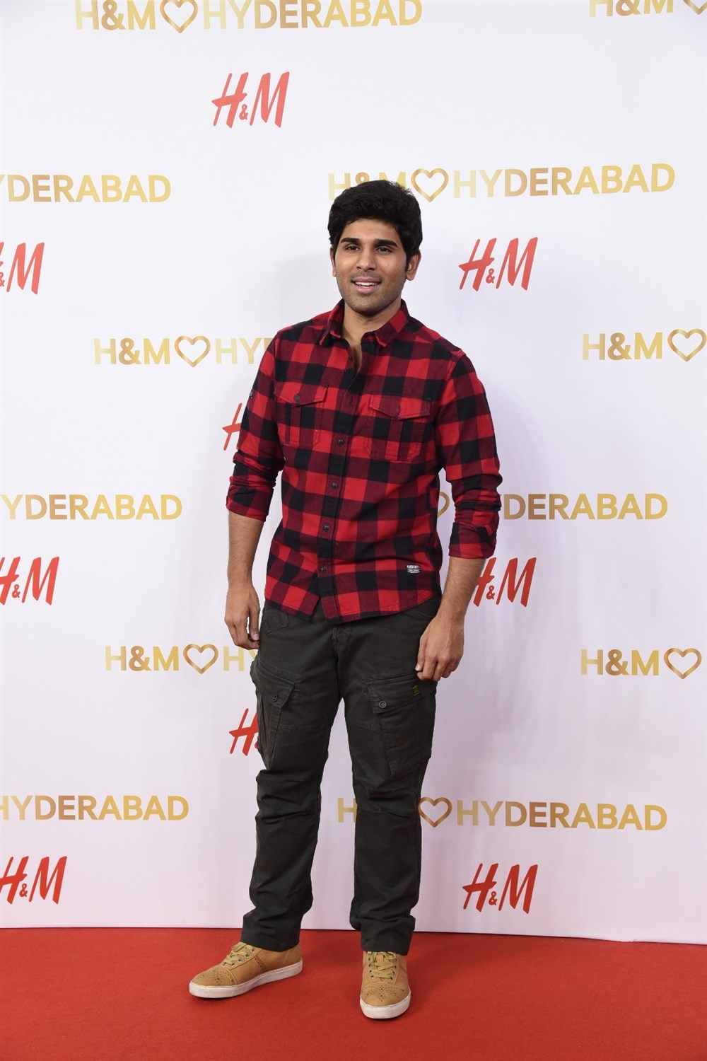 Allu Sirish @ H&M Hyderabad Grand Opening at Inorbit Mall