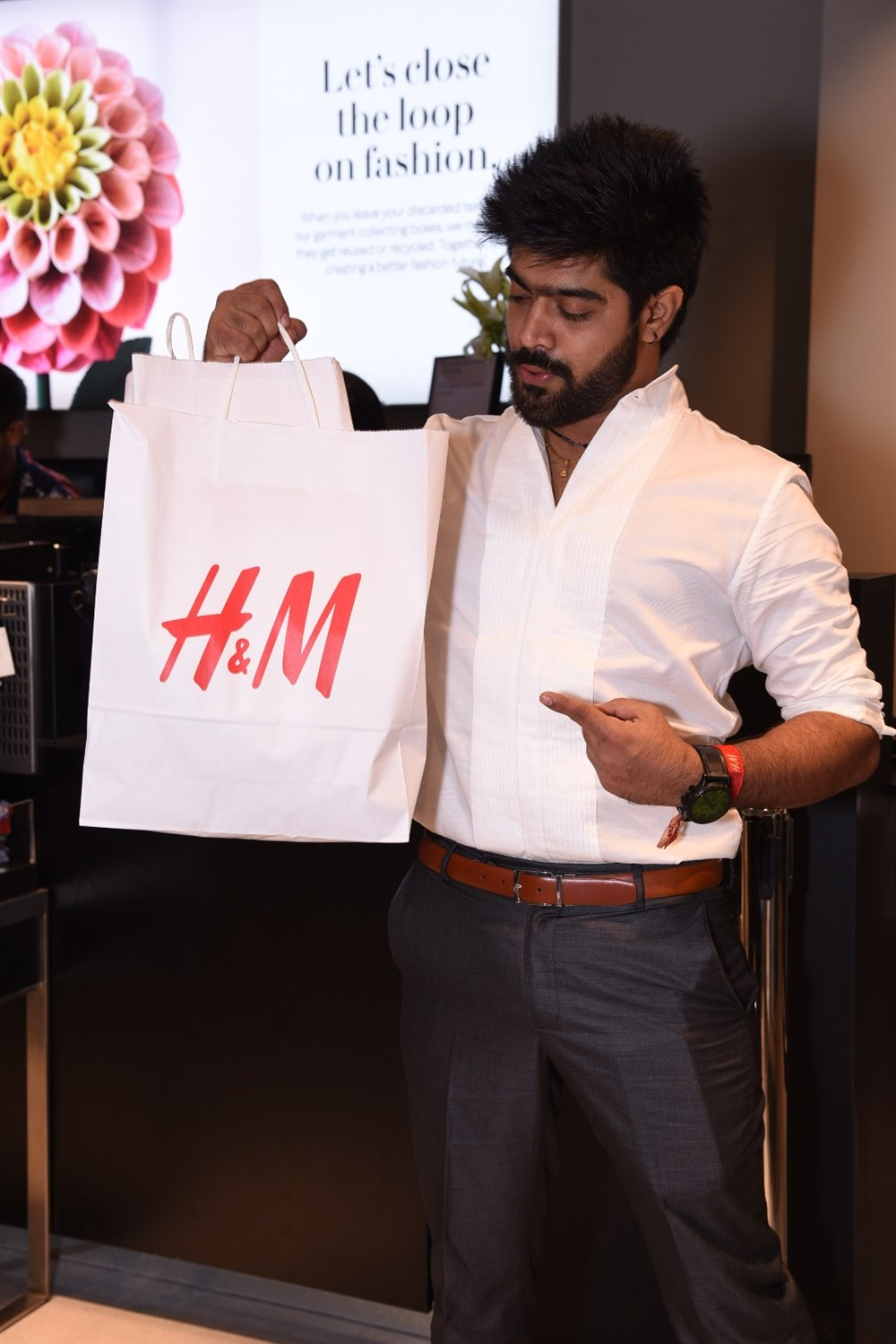 Singer Revanth of Indian Idol fame @ H&M Hyderabad Grand Opening at Inorbit Mall