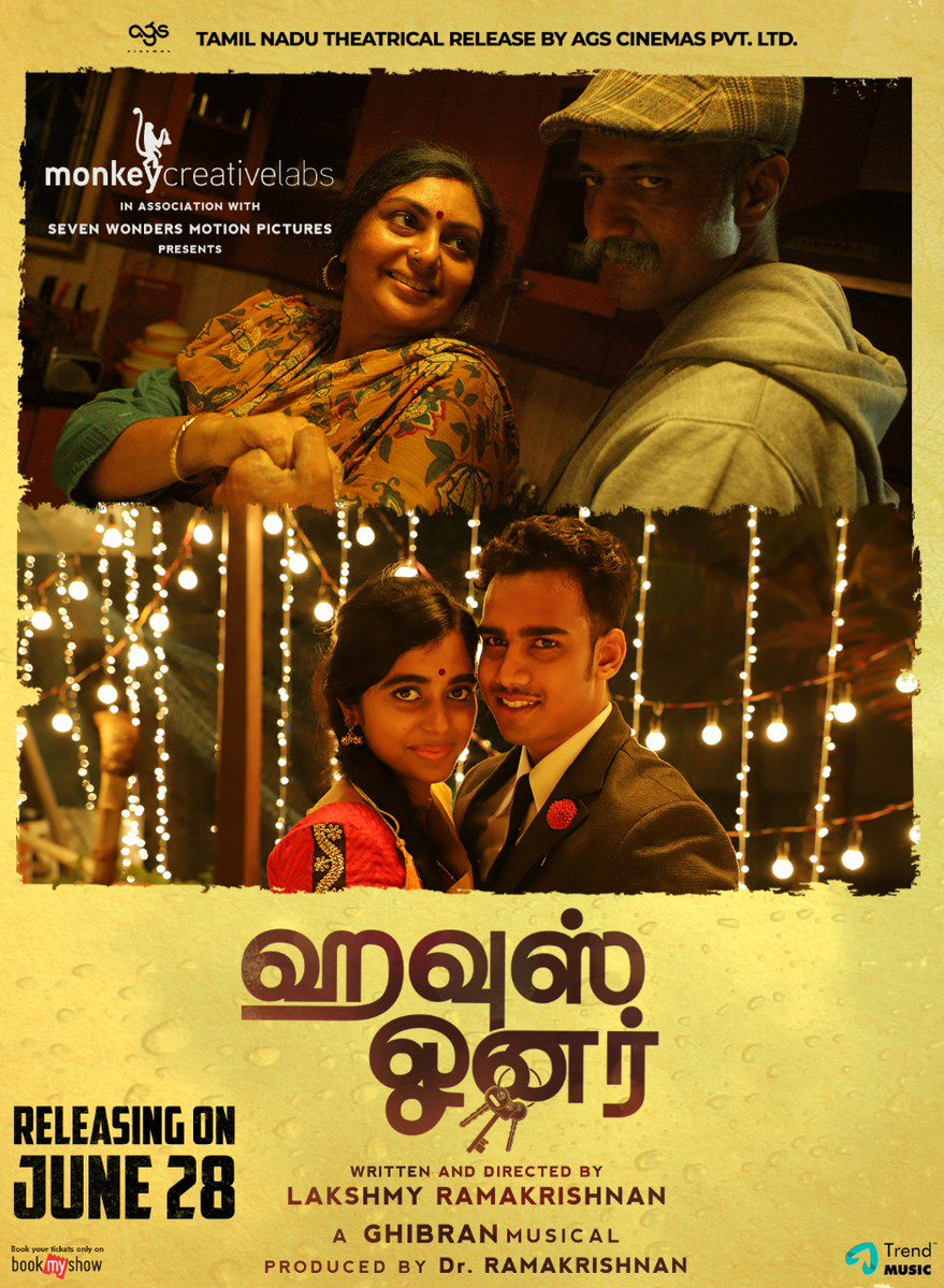 Sriranjini, Kishore, Lovelyn, Kishore DS in House Owner Movie Release Posters