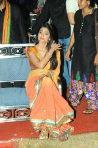 Actress Shriya Saran Saree Images @ Pavitra Audio Launch