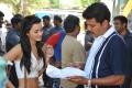 Actress Amy Jackson & Director Shankar @ I Movie Location