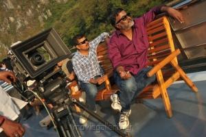 Director Shankar, Cinematographer PC Sreeram at I Movie China On Location Stills