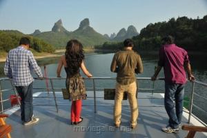 Shankar, Amy Jackson, Vikram, PC Sreeram at  I Movie China On Location Stills