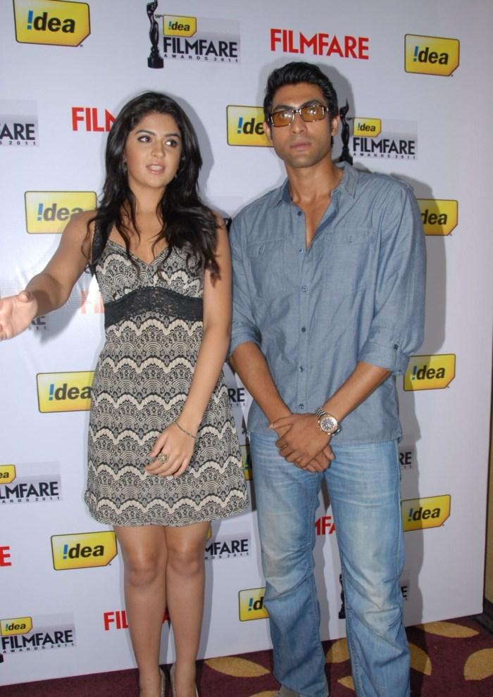 Rana And Deeksha Seth at 59th Idea South Filmfare Awards Press Meet Stills