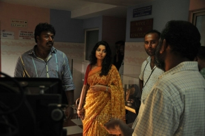 Gokul, Swathi @ Idharkuthane Aasaipattai Balakumara Shooting Spot Photos