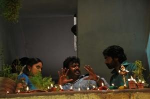 Nandita, Gokul, Vijay Sethupathi @ Idharkuthane Aasaipattai Balakumara Shooting Spot Photos