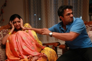 Hari Priya, Vijay Raghavendra in Idi Pedda Saitan Movie Stills