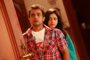 Vijay Raghavendra & Hari Priya in Idi Pedda Saitan Movie Stills