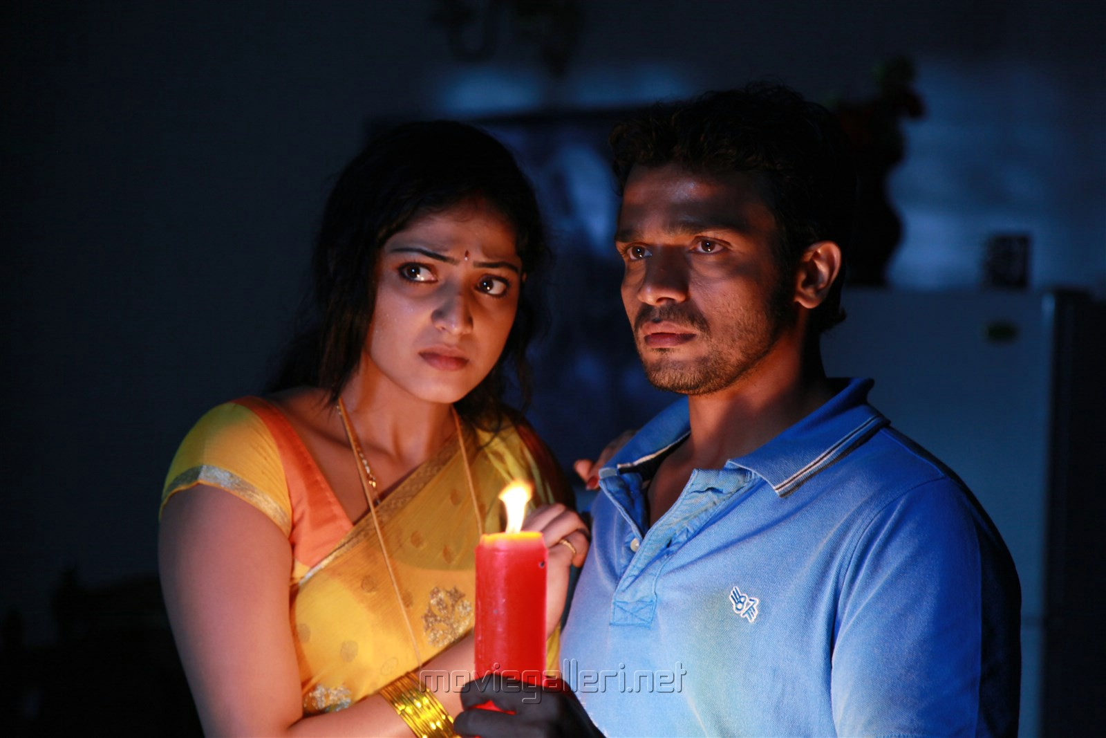 Hari Priya, Vijay Raghavendra in Idi Pedda Saitan Movie Stills