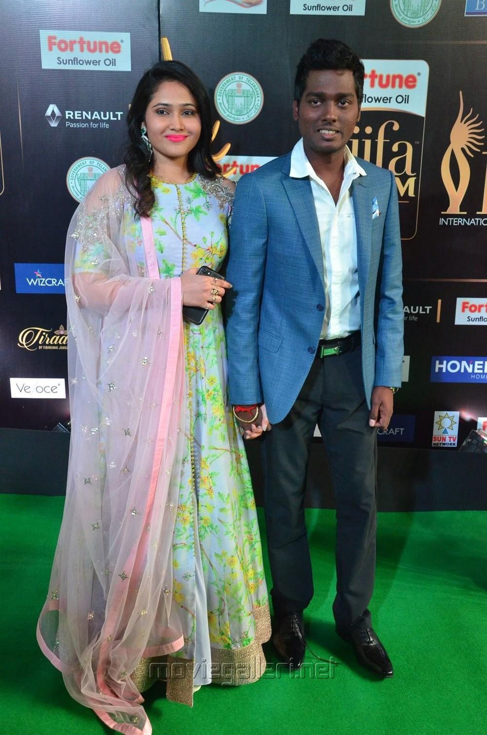 Priya, Atlee @ IIFA Utsavam 2017 Green Carpet (Day 1) Photos