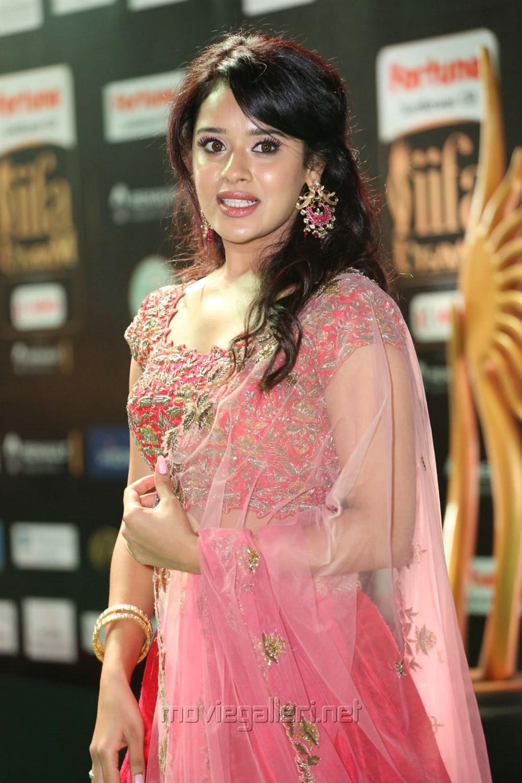 Actress Saahi @ IIFA Utsavam Awards 2017 Green Carpet Stills