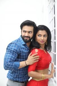 Yogesh, Anika Vikraman @ IKK Movie Pooja Stills