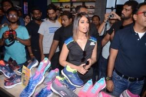 Actress Ileana D'Cruz inaugurates Skechers Store at Banjara Hills, Hyderabad
