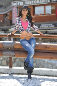 Actress Ileana D'Cruz in Checked Shirt Hot Pictures