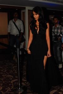 Ileana Latest Hot Stills in Black Long Gown Dress