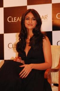 Ileana D'Cruz in Black Long Gown Dress as Clear Shampoo Ambassador
