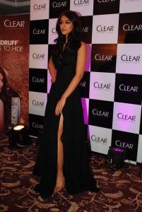 Ileana D'Cruz Latest Hot Stills in Black Long Gown Dress