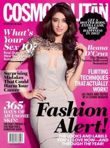 Actress Ileana D'Cruz on Cover of Cosmopolitan January 2013 Photos