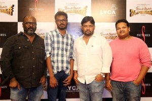 T Muthuraj, Saravanan, Chimbudevan, Ghibran @ Imsai Arasan 24am Pulikesi Movie Pooja Stills