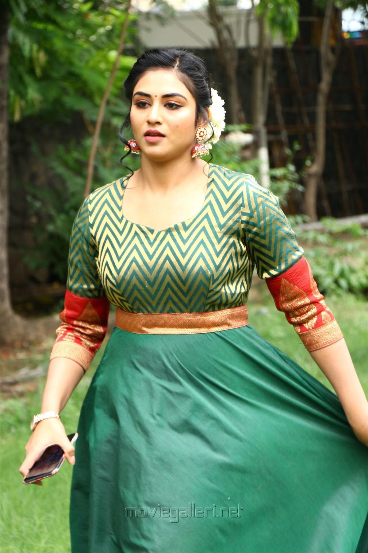 Magamuni Movie Actress Indhuja New Photos