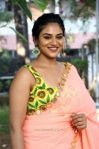 Actress Indhuja Ravichandran Saree Photos HD