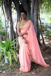 Super Duper Movie Actress Indhuja Ravichandran Saree Photos HD