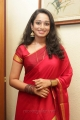 Actress Indu Thampi in Red Saree Beautiful Pictures