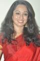 Actress Indu Thampi in Red Silk Saree Cute Pics