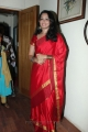 Actress Indu Thampi Cute Pics in Red Silk Saree