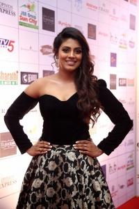 Actress Iniya Photos @ Dadasaheb Phalke Awards South 2019 Red Carpet