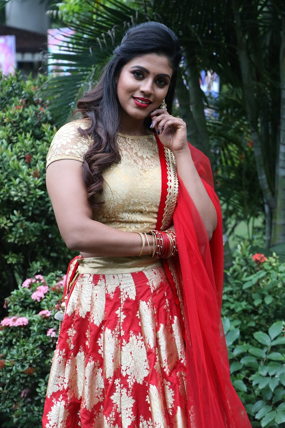 Actress Iniya New Images @ Mamangam Movie Team Meet