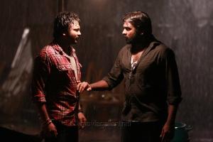 Bobby Simha, Vijay Sethupathi in Iraivi Movie Photos