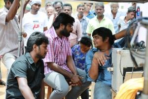 Vijay Sethupathi, Karthik Subbaraj @ Iraivi Movie Working Stills