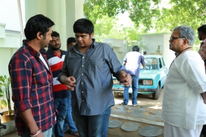 Bobby Simha, Karthik Subbaraj, Radha Ravi @ Iraivi Movie Working Stills
