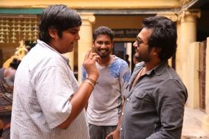 Karthik Subbaraj, Bobby Simha @ Iraivi Movie Working Stills