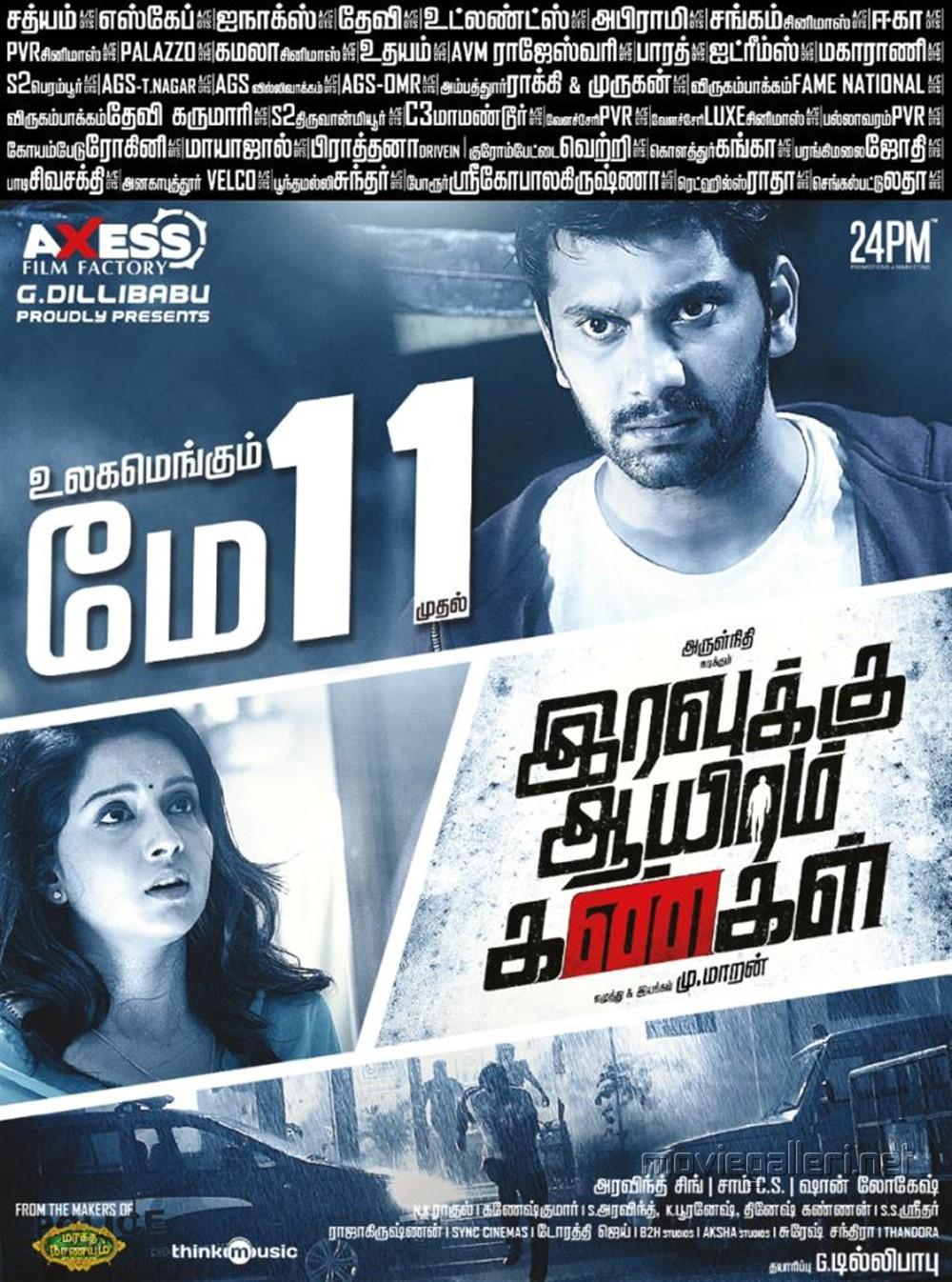 Mahima Nambiar Arulnithi Iravukku Aayiram Kangal Movie Release Posters