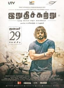 Actor Madhavan in Irudhi Suttru Movie Release Posters