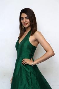Iruttu Actress Sakshi Chowdary in Green Dress Photos