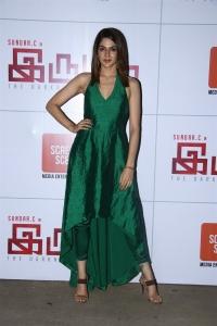 Iruttu Actress Sakshi Chaudhary in Green Dress Photos