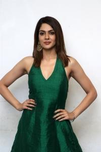 Iruttu Movie Heroine Sakshi Chaudhary in Green Dress Photos