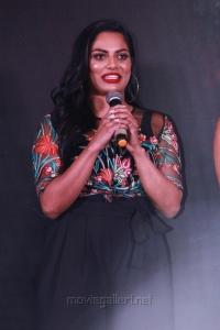 Actress Chandrika Ravi @ Iruttu Arayil Murattu Kuthu 2nd Single Launch Press Meet Stills