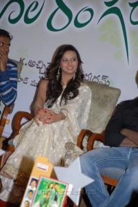 Isha Chawla Saree Pics at Poola Rangadu Success Meet