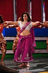 Actress Isha Chawla Hot Pink Saree Stills